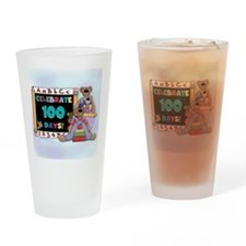 Bears 100 Days of School Drinking Glass