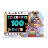 Bears 100 Days of School Decal