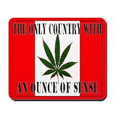 Canada has sense. Green Mousepad