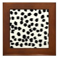 Dalmatian Pattern. Framed Tile