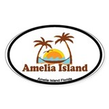 Amelia Island - Palm Trees Design. Decal