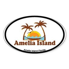 Amelia Island - Palm Trees Design. Decal