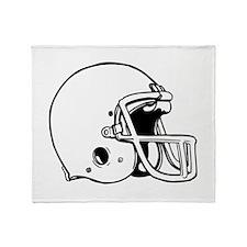 Football Helmet Throw Blanket
