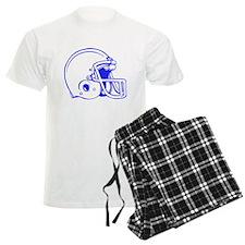 Blue Football Helmet Pajamas