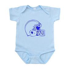 Blue Football Helmet Infant Bodysuit