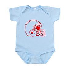 Red Football Helmet Infant Bodysuit