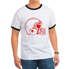 Red Football Helmet T