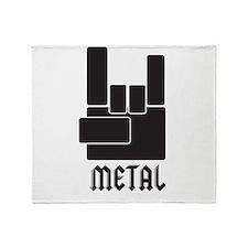 Metal Rocks! Throw Blanket