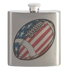 American Flag Football Flask