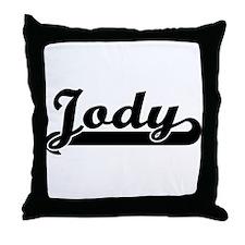 Black jersey: Jody Throw Pillow