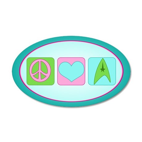 Peace Love Trekkin' 35x21 Oval Wall Decal