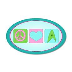 Peace Love Trekkin' 20x12 Oval Wall Decal