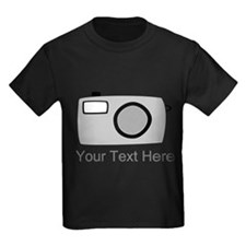 Gray Camera and Text. T