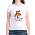 Big Sister to be - Mod Owl Jr. Ringer T-Shirt