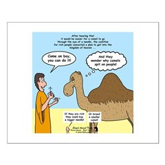 Camel Conundrum Small Poster