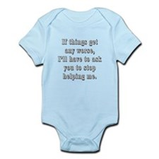 Stop Helping Infant Bodysuit