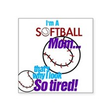 Softball Mom Rectangle Sticker