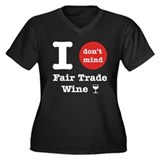 I Don't Mind... Women's Plus Size V-Neck Dark Tee