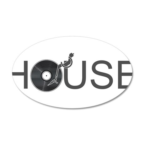 House Music 35x21 Oval Wall Decal