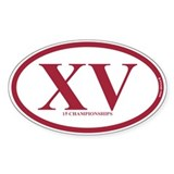 XV 15 Championships Decal