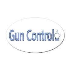 Gun Control Dislike 20x12 Oval Wall Decal