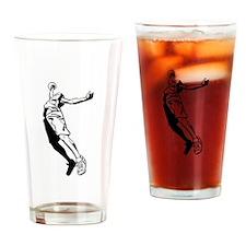 Tall Basketball Player Drinking Glass