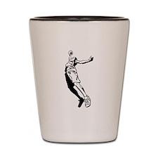 Tall Basketball Player Shot Glass