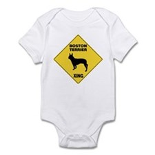 Boston Terrier Crossing Sign Infant Bodysuit