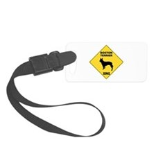 Boston Terrier Crossing Sign Luggage Tag