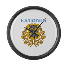 Estonia Coat of arms Large Wall Clock