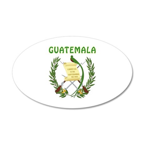 Guatemala Coat of arms 35x21 Oval Wall Decal