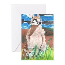 Wallabies Greeting Cards (Pk of 10)