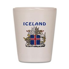 Iceland Coat of arms Shot Glass