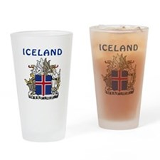 Iceland Coat of arms Drinking Glass