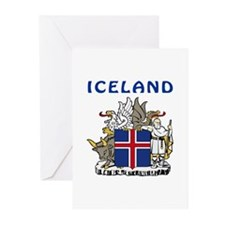 Iceland Coat of arms Greeting Cards (Pk of 10)
