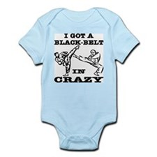 A Black Belt In Crazy Infant Bodysuit