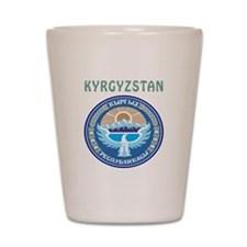 Kyrgyzstan Coat of arms Shot Glass