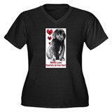 Newfy Puppy Pawprints Women's Plus Size V-Neck Dar