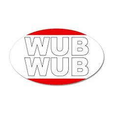 Wub Wub 20x12 Oval Wall Decal