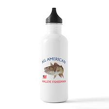 All american Walleye Fisherman Water Bottle