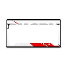 Rugby Line Out Red Black License Plate Holder