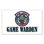 Fort Hood Game Warden Rectangle Sticker