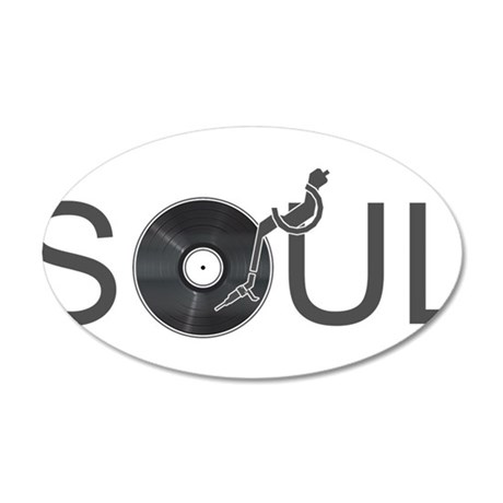 Soul Music Vinyl 35x21 Oval Wall Decal