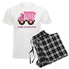 Under Construction Pink Truck Pajamas