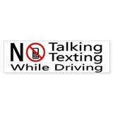 notalking_notexting Bumper Bumper Sticker