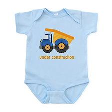Under Construction Blue Truck Infant Bodysuit