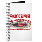 PROUD TO SUPPORT NATIVE VETERANS-WOUNDED WARRIOR J