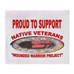 PROUD TO SUPPORT NATIVE VETERANS-WOUNDED WARRIOR
