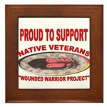 PROUD TO SUPPORT NATIVE VETERANS-WOUNDED WARRIOR F