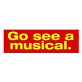 Gee See a Musical. Car Sticker